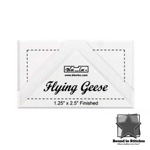 "Bloc_Loc®Flying Geese Square Up Ruler - 1-1/4"" x 2-1/2""  
