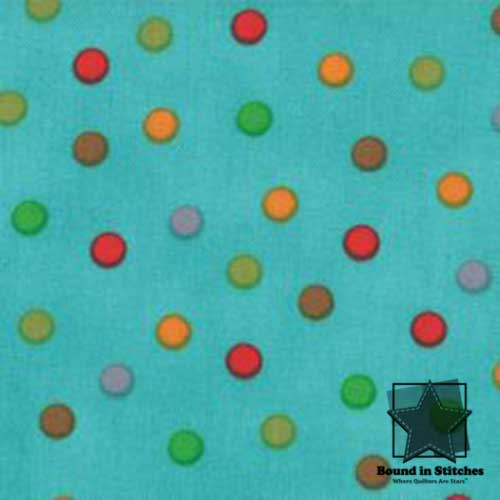 Moda Bungle Jungle - Aqua Dots by Tim & Beck