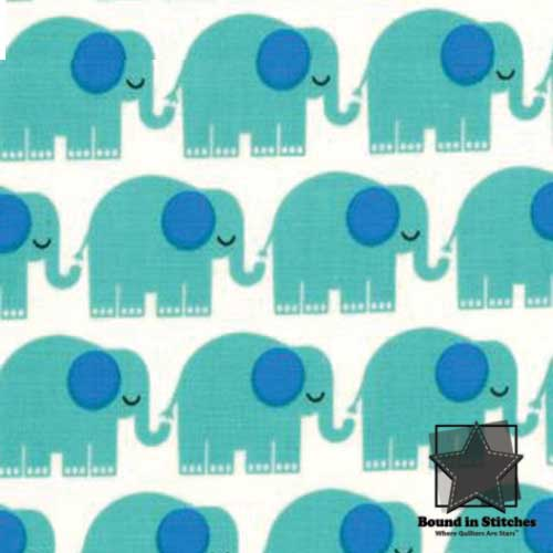 Moda Bungle Jungle - Ivory Elephants by Tim & Beck