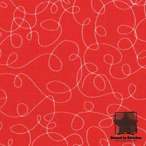 Moda Bungle Jungle - Red Scribbles by Tim & Beck