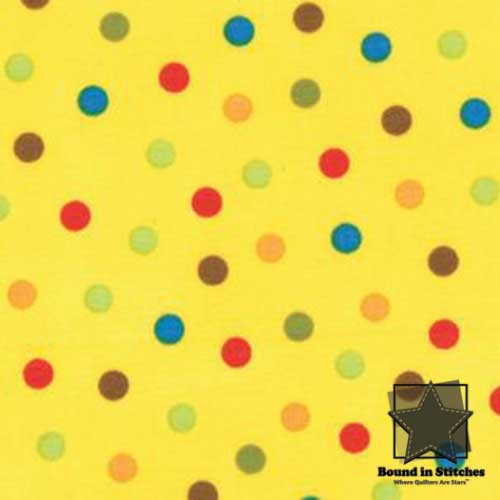 Moda Bungle Jungle - Yellow Dots by Tim & Beck