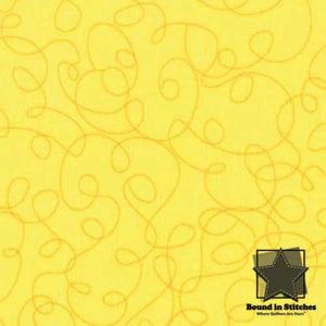 Moda Bungle Jungle - Yellow Scribbles by Tim & Beck