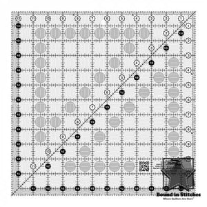 "Creative Grids Quilt Ruler 12-1/2"" Square  