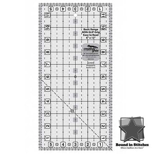 "Creative Grids Basic Range 6"" x 12"" Rectangle Quilt Ruler  