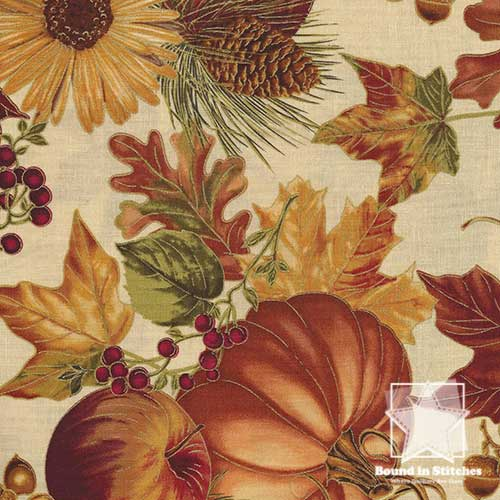 Timeless Treasures Harvest Focal Print CM6446 - Eggnog