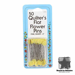 "Collins 50 Count 2"" Flat Flower Pins"