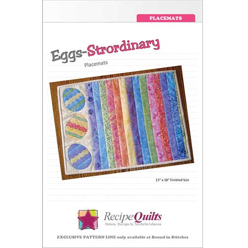 Eggs-strordinary Placemats  |  Bound in Stitches