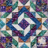 Gemstone Quilt Kit - Sample of Individual Block in Quilt  |  Bound in Stitches