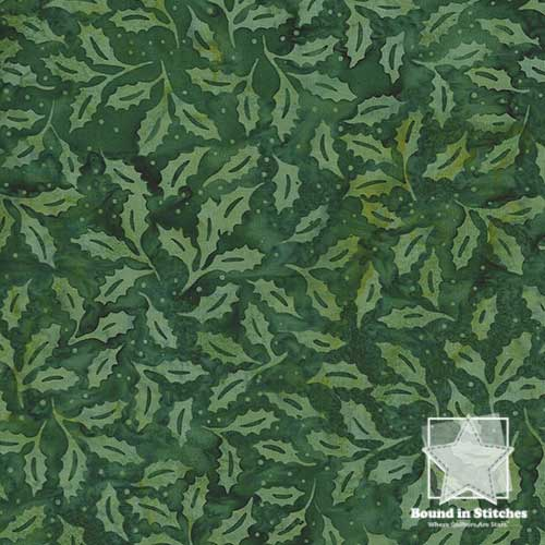 Bali Batiks Christmas - Holly Hunter by Hoffman Fabrics  |  Bound in Stitches