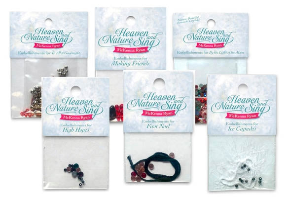 Heaven and Nature Sing Embellishment Kits by McKenna Ryan  |  Bound in Stitches