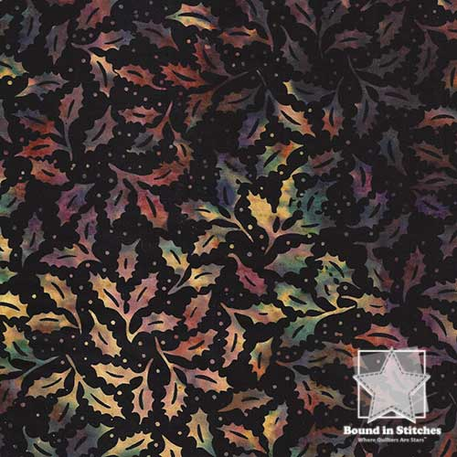 Bali Batiks Christmas - Holly Sugarplum by Hoffman Fabrics  |  Bound in Stitches
