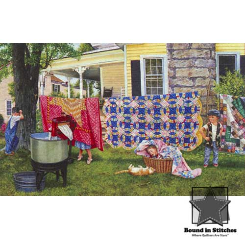 Hide N Quilt 550 Piece Jigsaw Puzzle by Susan Brabeau