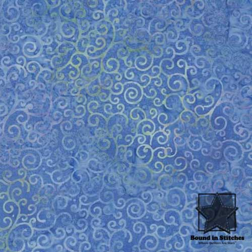 Island Batik - Blue Swirl BE16-4 Blue  |  Bound in Stitches