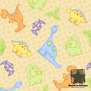 The Land Before Time Flannel - Dino Allover by Shelly Comiskey  |  Bound in Stitches