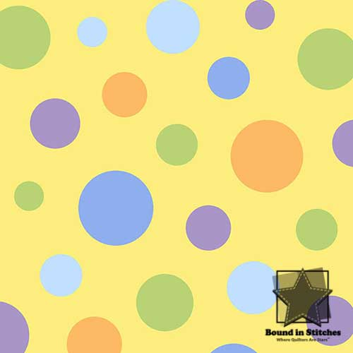 The Land Before Time Flannel 6327-44 Yellow Dots by Shelly Comiskey  |  Bound in Stitches