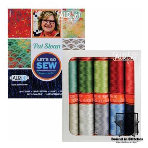 Let's Go Sew Aurifil 50wt Thread Set - Small Spools  |  Bound in Stitches