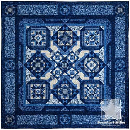 London Blues BOM by Toni Steere & Jenny Foltz | Bound in Stitches