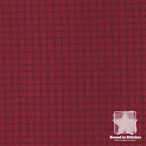 Woolies Flannel MASF18126-R2 Reverse Check Dark Red by Maywood Studio