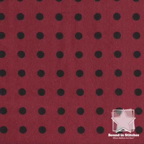 Woolies Flannel MASF18145-R2 Polka Dots Dark Red by Maywood Studio