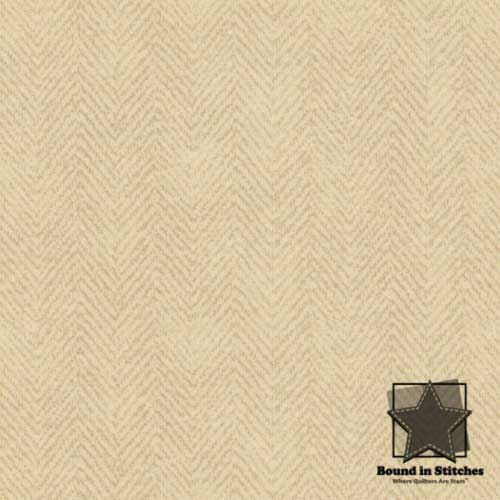 Woolies Flannel – Herringbone Cream MASF1841-T by Maywood Studio  |  Bound in Stitches