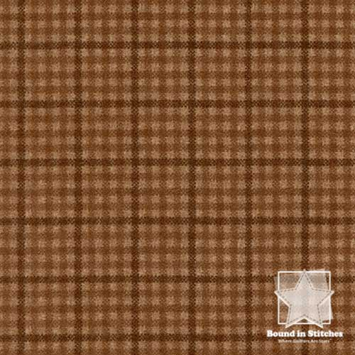 Woolies Flannel – Reverse Check Brown MASF18126-A by Maywood  Studio  |  Bound in Stitches