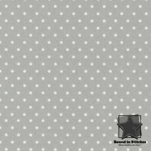 Woolies Flannel Dots Soft Grey by Maywood Studio