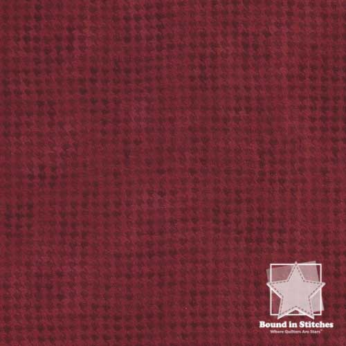 Woolies Flannel – Houndstooth Red Fat Quarter  by Maywood Studio  |  Bound in Stitches