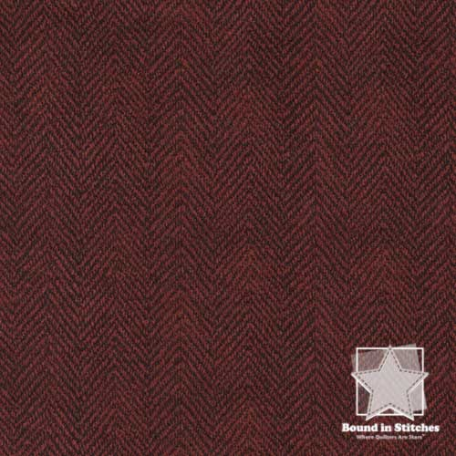 Woolies Flannel – MASF1841-R2 Herringbone Dark Red Fat Quarter by Maywood Studio