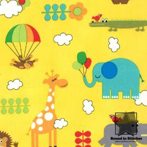 Moda Bungle Jungle - Yellow Critters by Tim & Beck
