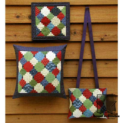 Happ Wall Quilt, Pillow & Bag by MH Designs