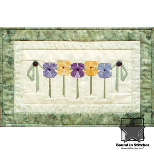 Pansy Garland by MH Designs  |  Bound in Stitches