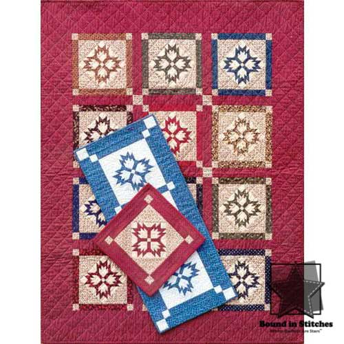 Double Paw Block, Runner and Wall Quilt by MH Designs