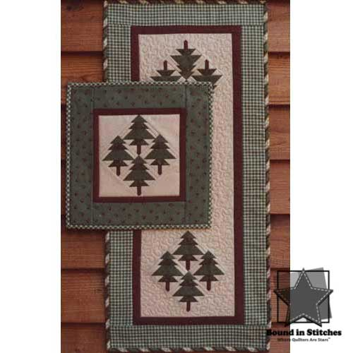 The Pines Wall Quilt and Runner by Mary Herschleb  |  Bound in Stitches