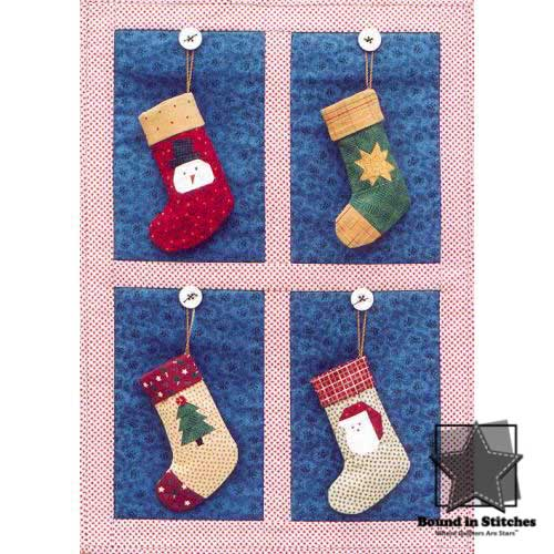 Stocking Ornaments 2001 by Mary Herschleb  |  Bound in Stitches