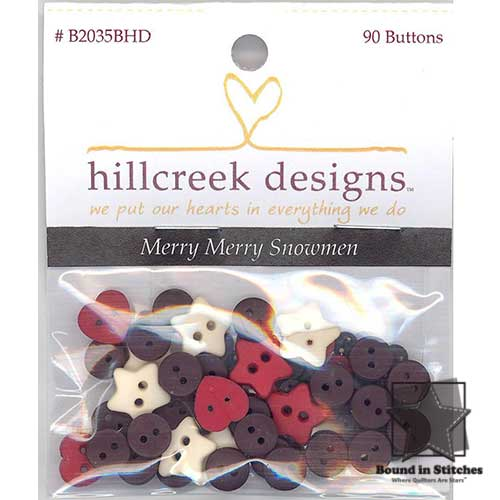 Merry Merry Snowmen Button Pack by Bunny Hill Designs