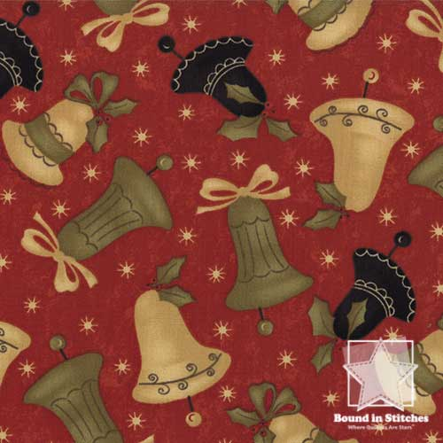 Moda Merry Medley 17663-14 Berry Bells by Sandy Gervais