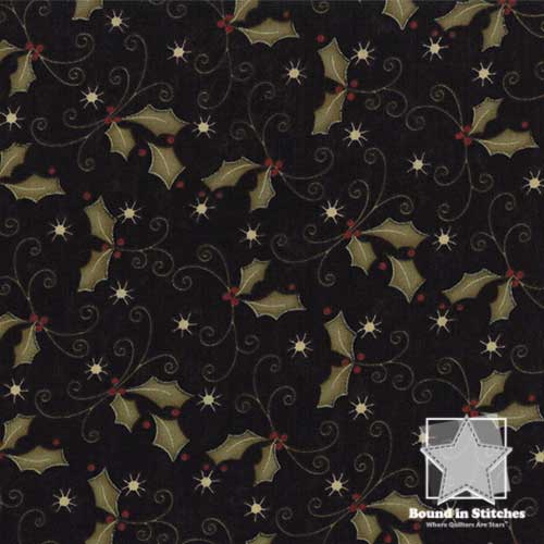 Moda Merry Medley 7665-11 Ebony Holly by Sandy Gervais