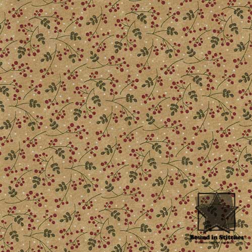 Moda Merry Medley 17666-12 Ivory Winterberries by Sandy Gervais