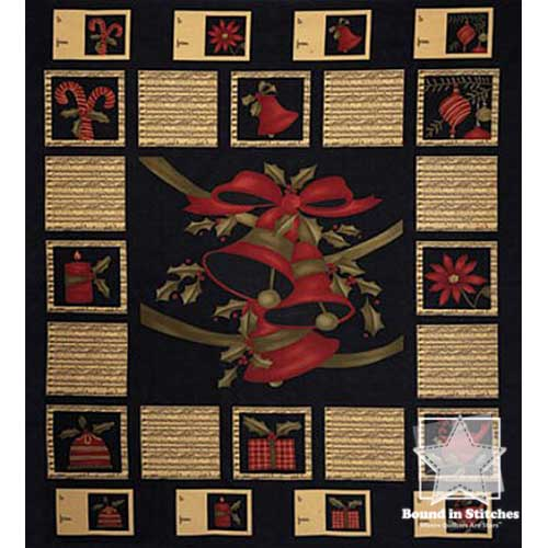Moda Merry Medley 17660-11 Ebony Panel by Sandy Gervais