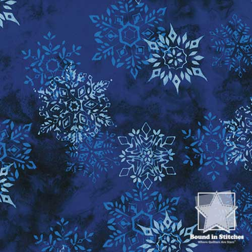Bali Batiks Christmas - Tahiti Snowflakes by Hoffman Fabrics  |  Bound in Stitches
