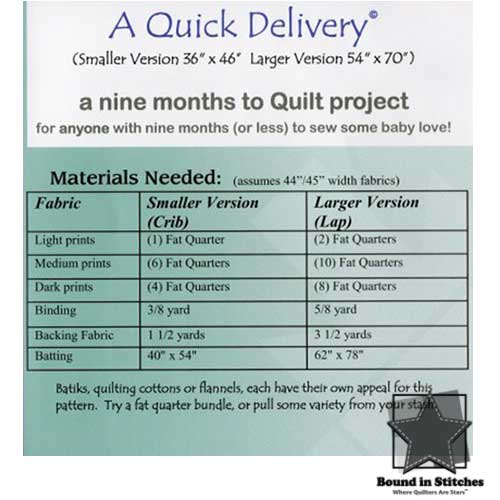A Quick Delivery Supply List by Bean Counter Quilts
