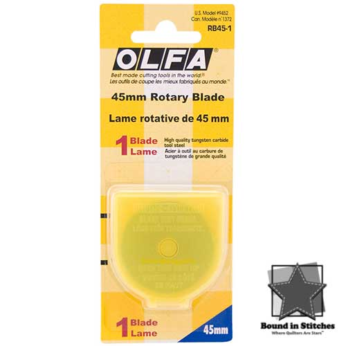 45mm Rotary Blade by Olfa  |  Bound in Stitches