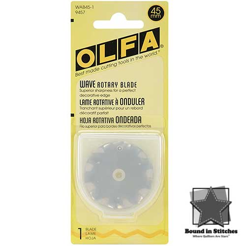 45mm Rotary Cutter Blade Wavy by Olfa  |  Bound in Stitches