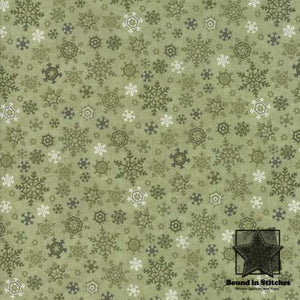Moda Once Upon A Memory - Eucalyptus Snowflakes by Holly Taylor