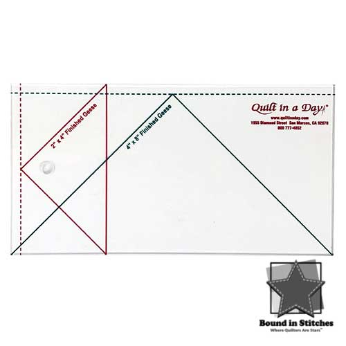 Large Flying Geese Ruler by Quilt in a Day