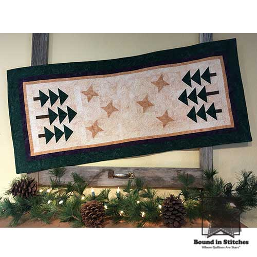 Starry Pines Table Runner by Michelle Johnson