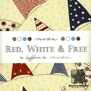 Moda Red, White & Free 17800-MC Mini Charm Pack  |  Bound in Stitches
