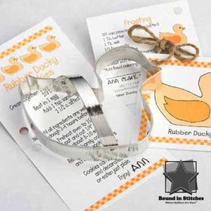 Rubber Ducky Cookie Cutter  |  Bound in Stitches
