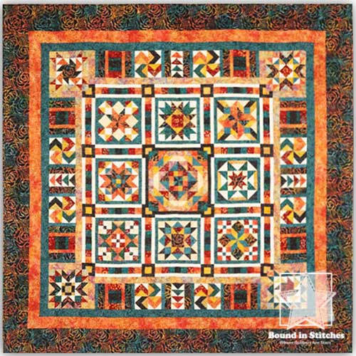 Sangria Quilt Kit  | Bound in Stitches