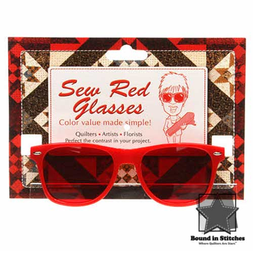 Sew Red Glasses - Color Value Made Simple!  |  Bound in Stitches